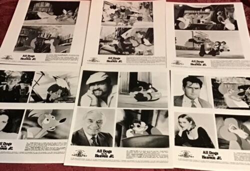 Movie Promo Press Kit Photos All Dogs Go To Heaven