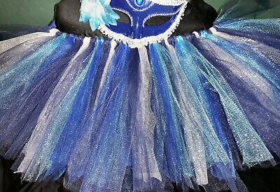 Dark Blue Glitter Adult TuTu Mardi Gras Masquerade - New Orleans Kostüme
