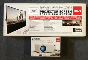 RCA HD Projector and Indoor/Outdoor screen - new in box