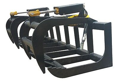 72 Inch Skid Steer Root Grapple Universal Quick Attach Free Shipping