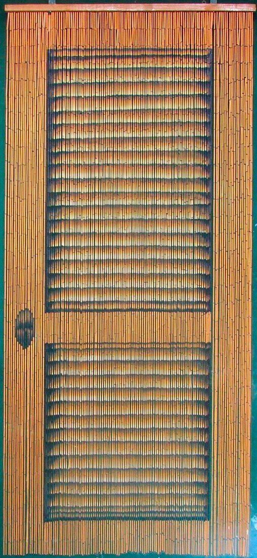 Louver Doors Beaded Bamboo Curtains Decor Panel Window Offic
