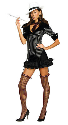 1920 Womens Gangster Costume (Secret Wishes 1920's Sexy Gangster Doll Women's Costume Size XS)