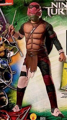 TMNT Ninja Turtle Raphael deluxe costume by Rubies 888974 boys M 8-10 - Ninja Turtle Raphael Costume