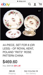 "New ""Royal Kent"" collection Poland dishes"