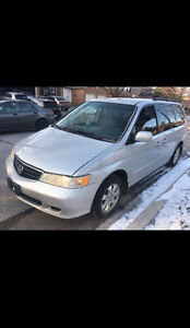 2002 Honda Odyssey for sale low mileage 230,000km offer availabl