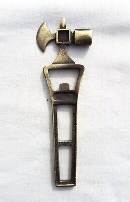 Vintage Old Antique Style Beautiful Lady Fine Brass Bottle Opener Collectible