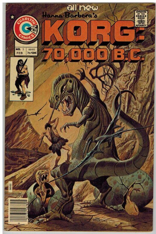 KORG:70,000 BC 5 F-VF Feb. 1976