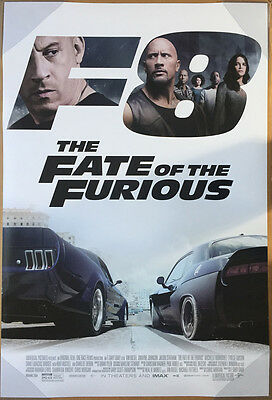 THE FATE OF THE FURIOUS MOVIE POSTER 2 Sided ORIGINAL FINAL 27x40 VIN DIESEL