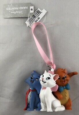 Disney Parks Aristocats Marie Toulouse Berlioze Ornament Christmas Holiday - NEW