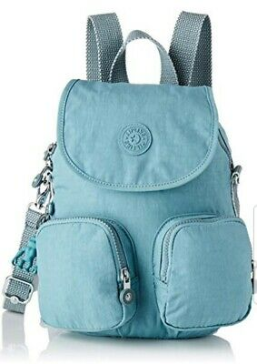 NEW Kipling Firefly Aqua Frost small backpack convertible x body 7.5L Rrp £87