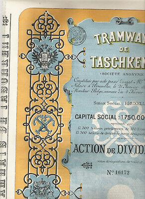 Tramways de Taschkent, 1897, uncancelled/ coupons, deco