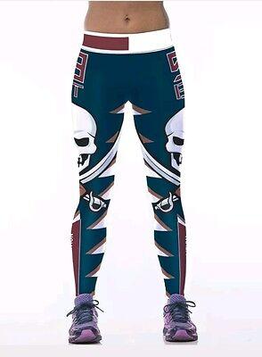 Tampa Bay Buccaneers Leggings S M Bucs Football Athletic Nfl Yoga Stretchy Nwt