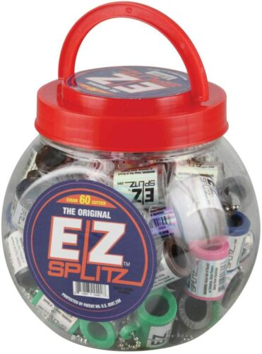 60pc Small EZ Splitz Cigar Splitter - Assorted Colors Free Shipping