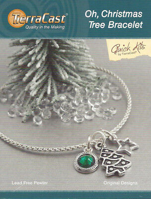 TierraCast - Quick Kit - Make It Yourself - Oh, Christmas Tree Bracelet ()