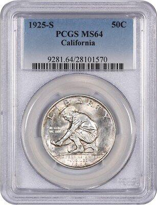 1925-S California 50c PCGS MS64 - Silver Classic Commemorative