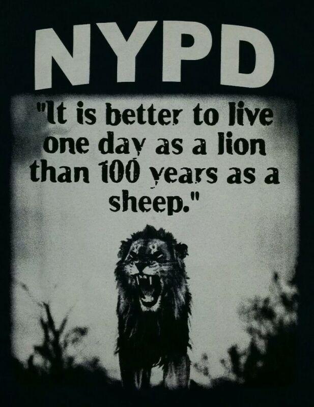 NYPD New York City Police Department NYC T-Shirt Sz L PSA 5 Manhattan