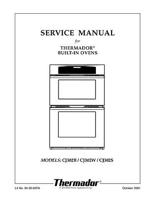 Thermador C301 Installation Instructions Manual