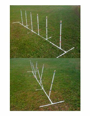 Dog Agility Equipment Weave Poles Adj ANGLE & SPACING