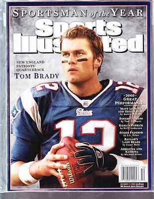 December 12, 2005 Tom Brady New England Patriots SOY Sports Illustrated NO LABEL