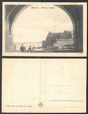 Old Malta Postcard - Fort S. Angelo