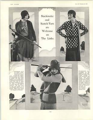 (1929 Stockinette And Scotch Yarn Welcome On The Links Blake Harrods)