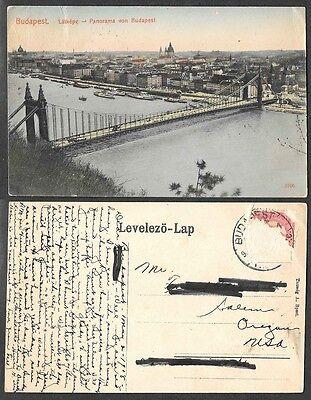 1908 Hungary Postcard - Budapest Panorama