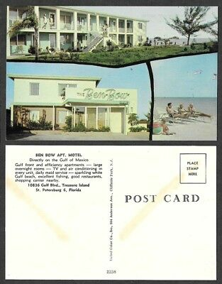 Old Florida Postcard - St. Petersburg - Ben Bow Apartment Hotel, Motel