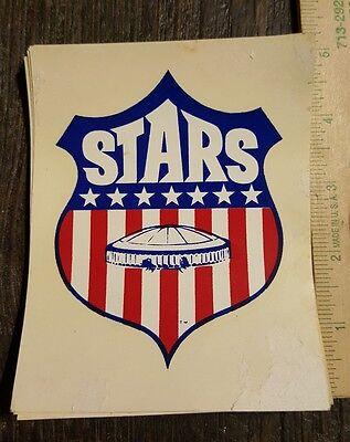 "VINTAGE 4 1/2"" WATER SLIDE DECAL- 1967 HOUSTON STARS SOCCER ASTRODOME - Rare HTF"