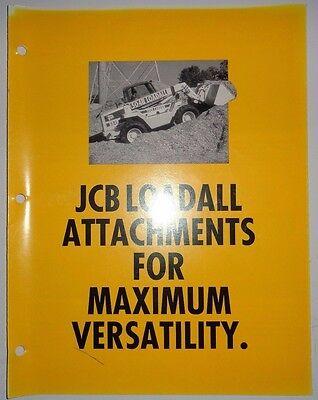 Jcb Loadall Telescopic Handler Attachments Sales Brochure Literature Specs Ad