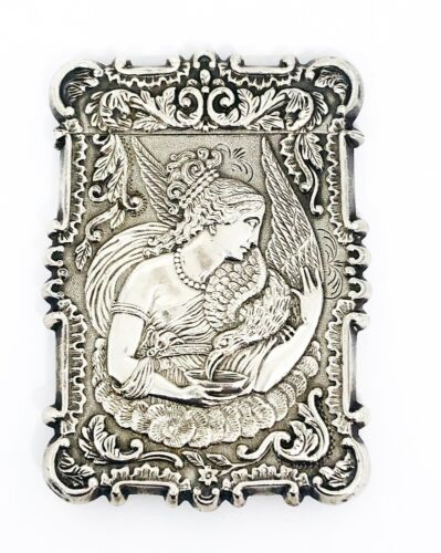 ART NOUVEAU Sterling Silver Business Card Case