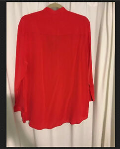 All Saints Women's red silk blouse US 8 New
