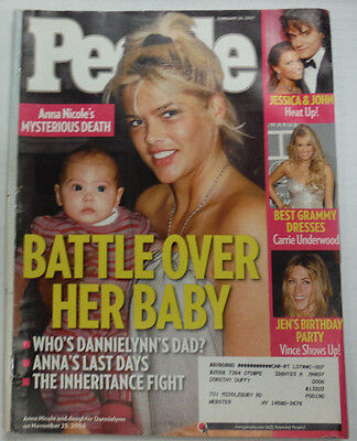 People Magazine Anna Nicole Smith   Jessica Simpson February 2007 051915R