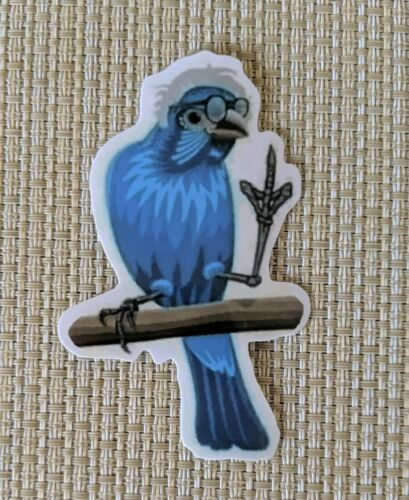 Home Decoration - Bernie Sanders Birdie give them the bird Vinyl Waterproof Sticker 2x3.5""