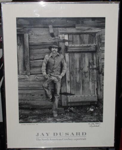 Original Jay Dusard Signed Photograph / Print Framed, For Stan Robbins, Cowboy P