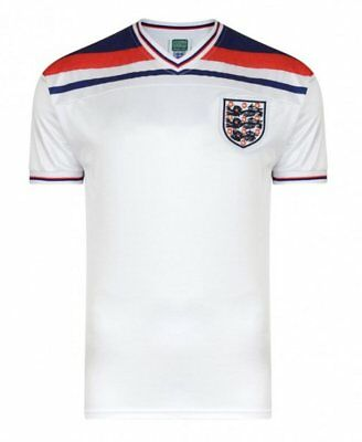 Official England Football 1982 World Cup Retro Home Shirt | White