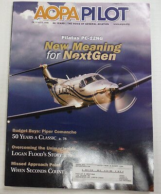 AOPA Pilot Magazine New Meaning For NextGen October 2008 (Aviator Meaning)