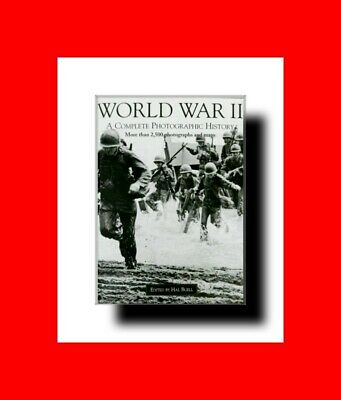 MILITARY BOOK%WORLD WAR II(2)A COMPLETE PHOTOGRAPHIC HISTORY 2500+PHOTOS & MAPS!
