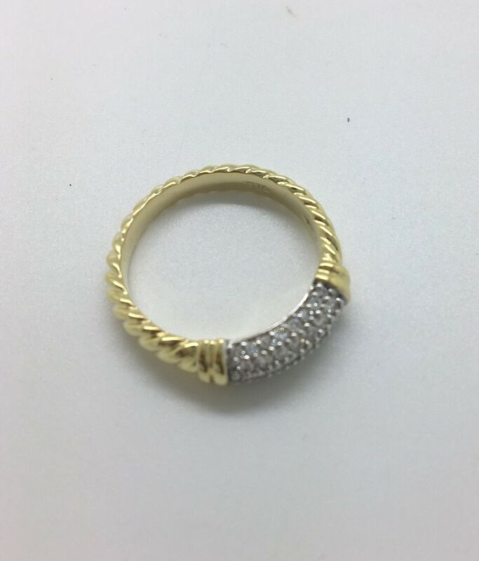 David Yurman Pave Diamond Metro Ring Size 8.5