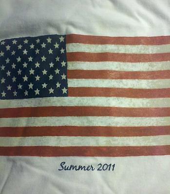 * NEW * Patriotic Tee Shirt * American Flag * White * Summer 2011 *