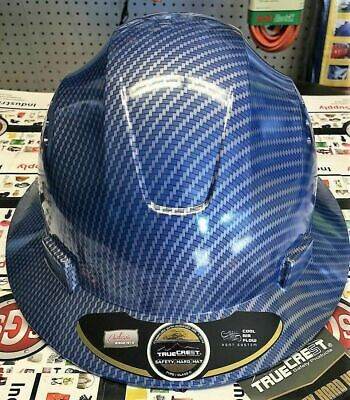 Hydro Dipped Blue Brim Hard Hat With Fas-trac Suspension