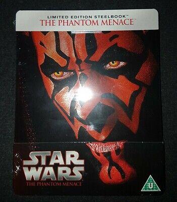 Star Wars The Phantom Menace Steelbook BRAND NEW SEALED Blu Ray