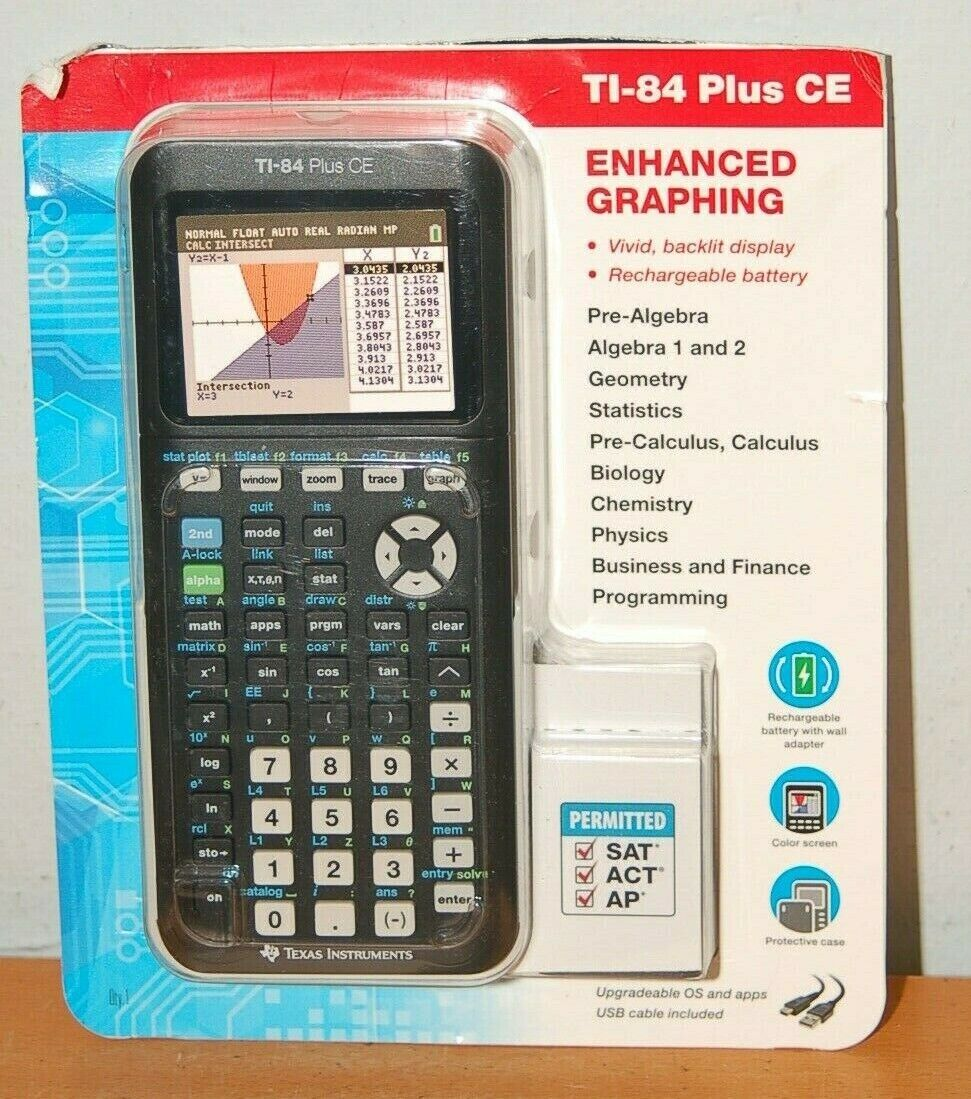 NEW Texas Instruments TI-84 Plus CE Graphing Calculator Colo