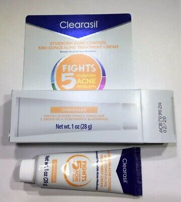 CLEARASIL Tinted Stubborn Acne Control Treatment Cream Concealer 1oz Exp 2/20