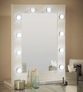 Hollywood Mirror White Vanity Mirror 80 x 60 MINOR SCUFFS ON PAINT WORK SALE