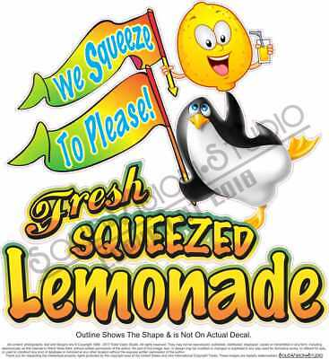 Lemonade Fresh Squeezed Concession Trailer Food Cart Truck Drink Menu Sign Decal