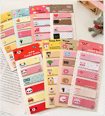 120 Pages Cute Cartoon Sticker Post It Bookmark Marker Memo Flags Sticky Notes on Rummage