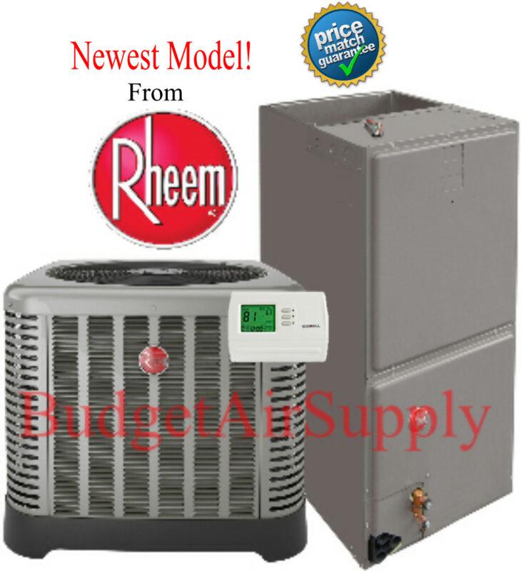 5 Ton 14 Seer  Rheem Heat Pump System Rp1460aj1+rh1t6024stanja New Model!!