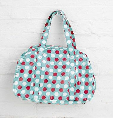 Green Spotty Oilcloth Overnight Weekend Gym Bag By Katz Dancewear PP6G Christmas