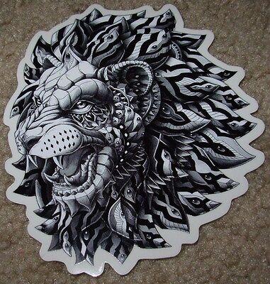 "BIOWORKZ Art Sticker 5"" LION poster print like shepard fairey obey"