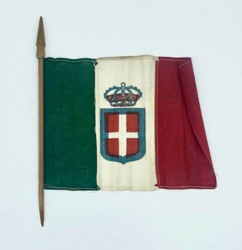 "Vintage Decorative Italian Crown Flag 13""x10""x9"""
